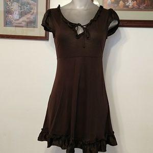 Deletta Brown Mini-Dress Size XS
